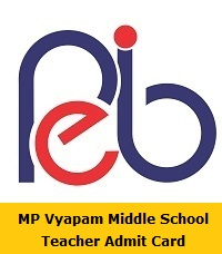 MP Vyapam Middle School Teacher Admit Card
