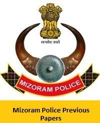Mizoram Police Previous Papers