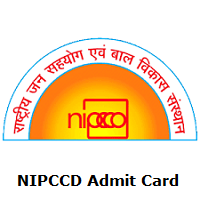 NIPCCD Admit Card