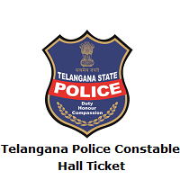 Telangana Police Constable Hall Ticket