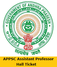 APPSC Assistant Professor Hall Ticket
