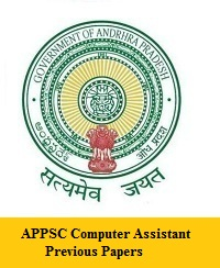 APPSC Computer Assistant Previous Papers