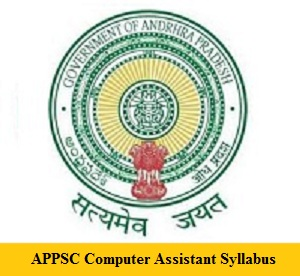 APPSC Computer Assistant Syllabus