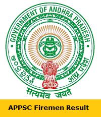 APPSC Firemen Result