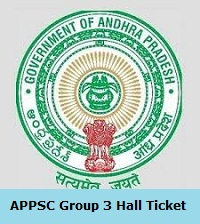 APPSC Group 3 Hall Ticket