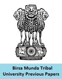Birsa Munda Tribal University Previous Papers
