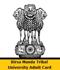 Birsa Munda Tribal University Admit Card
