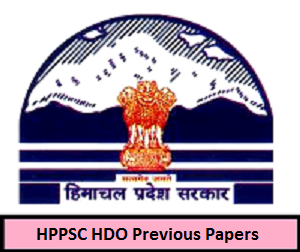 HPPSC HDO Previous Papers