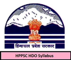 HPPSC HDO Syllabus