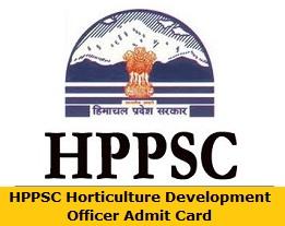 HPPSC Horticulture Development Officer Admit Card
