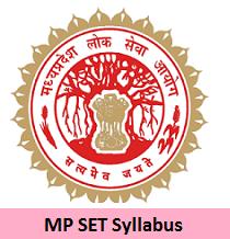 MP SET Syllabus