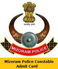 Mizoram Police Constable Admit Card