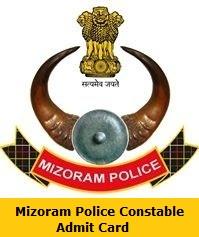 Mizoram Police Constable Admit Card