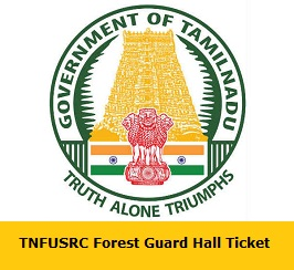 TNFUSRC Forest Guard Hall Ticket