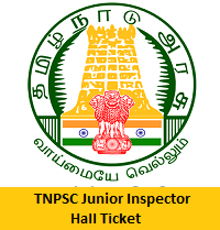TNPSC Junior Inspector Hall Ticket