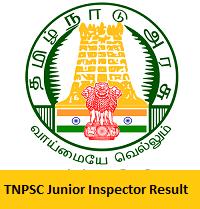 TNPSC Junior Inspector Result