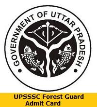 UPSSSC Forest Guard Admit Card