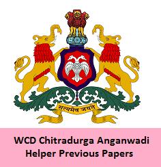 WCD Chitradurga Anganwadi Helper Previous Papers