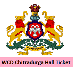 WCD Chitradurga Hall Ticket