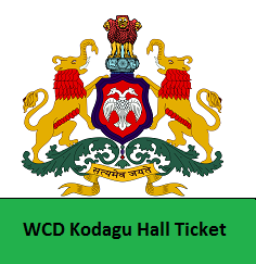 WCD Kodagu Hall Ticket