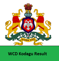 WCD Kodagu Result