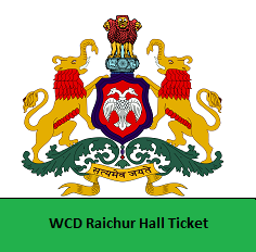 WCD Raichur Hall Ticket