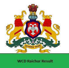 WCD Raichur Result
