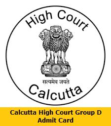 Calcutta High Court Group D Admit Card