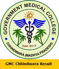 GMC Chhindwara Result