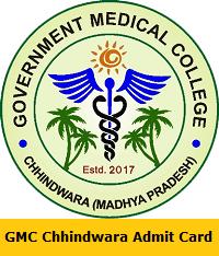 GMC Chhindwara Admit Card