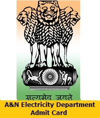 A&N Electricity Department Admit Card