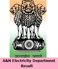 A&N Electricity Department Result