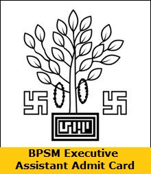 BPSM Executive Assistant Admit Card