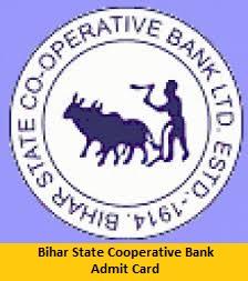 Bihar State Cooperative Bank Admit Card