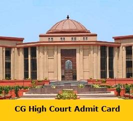 CG High Court Admit Card