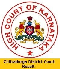Chitradurga District Court Result