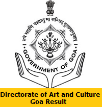 Directorate of Art and Culture Goa Result