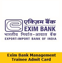 Exim Bank Management Trainee Admit Card