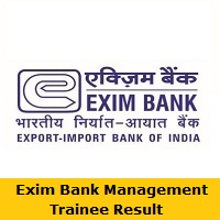 Exim Bank Management Trainee Result