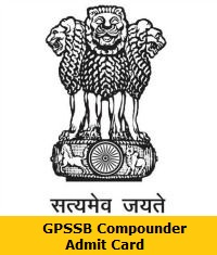 GPSSB Compounder Admit Card