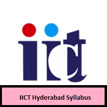 IICT Hyderabad Syllabus