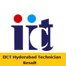 IICT Hyderabad Technician Result