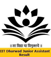 IIT Dharwad Junior Assistant Result