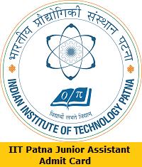 IIT Patna Junior Assistant Admit Card
