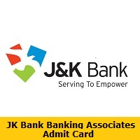 JK Bank Banking Associates Admit Card