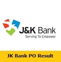 JK Bank PO Result