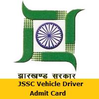 JSSC Vehicle Driver Admit Card