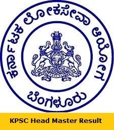 KPSC Head Master Result