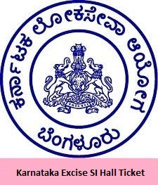 Karnataka Excise SI Hall Ticket