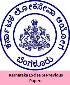 Karnataka Excise SI Previous Papers